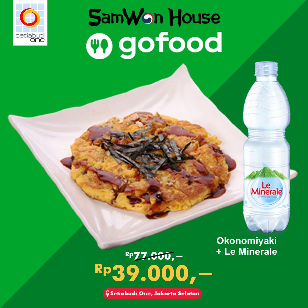 Okonomiyaki + Leminerale