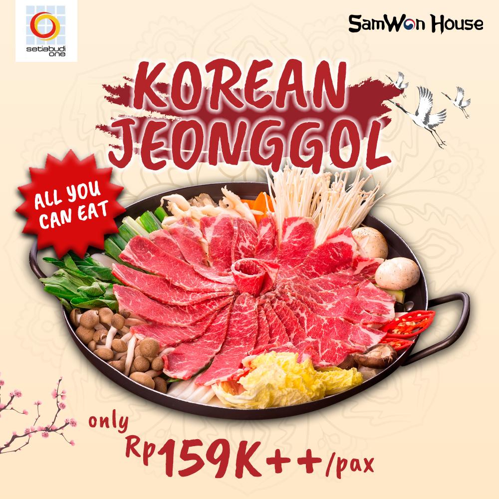 Promo Internal All You Can Eat Korean Jeonggol